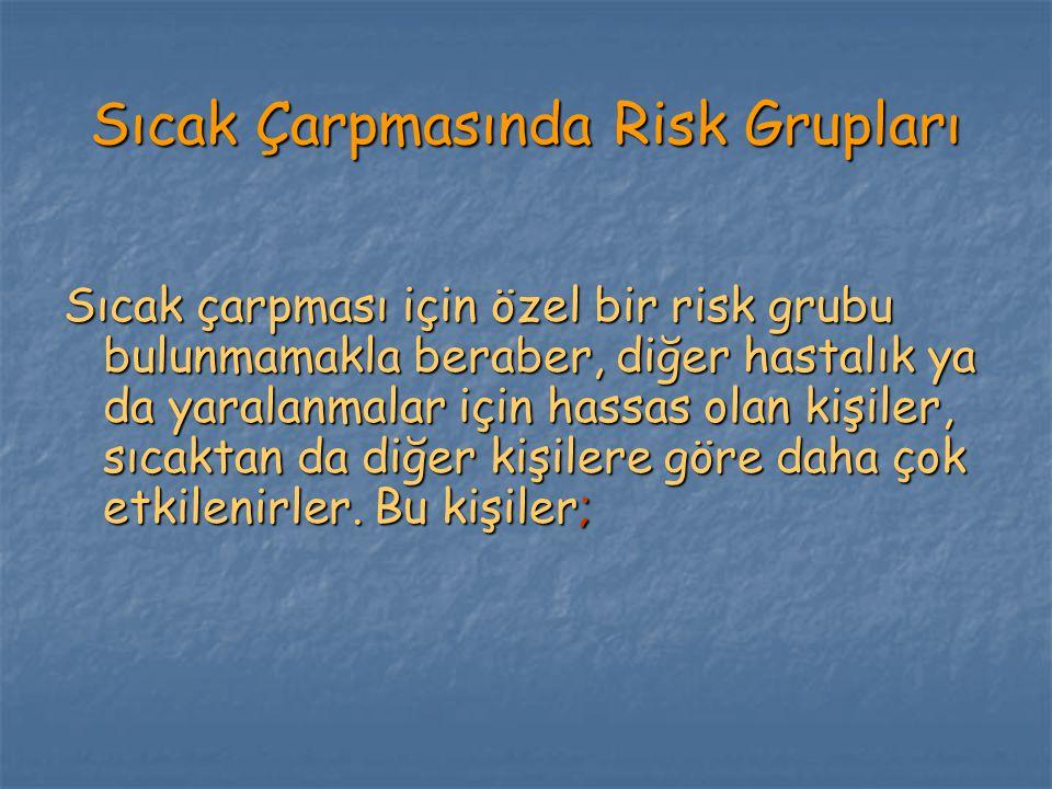 Sıcak Çarpmasında Risk Grupları