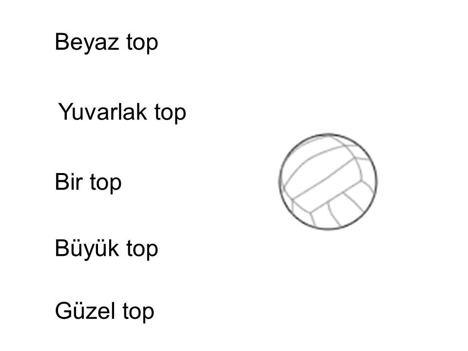 Beyaz top Yuvarlak top Bir top Güzel top Büyük top Güzel top