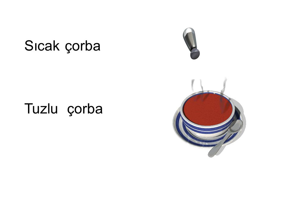 Sıcak çorba Tuzlu çorba Tuzlu