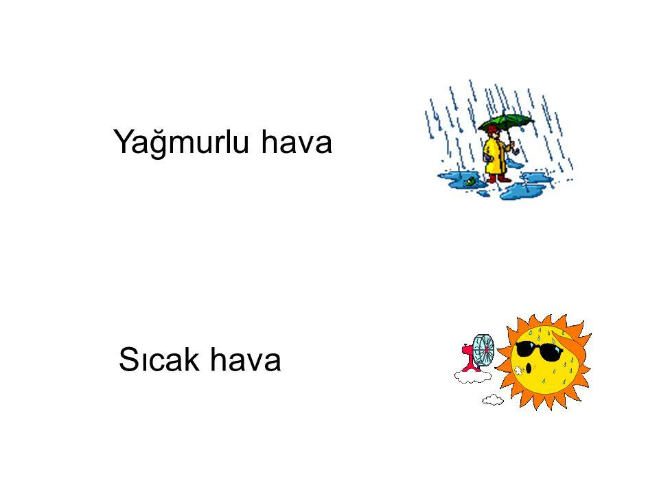 Yağmurlu hava Sıcak hava Sıcak hava