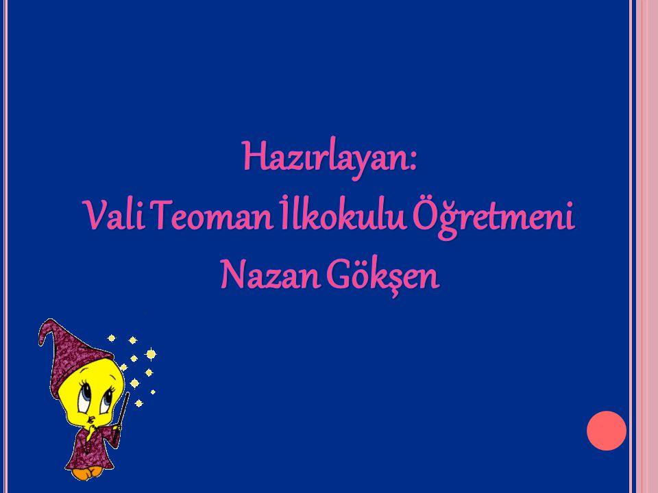 Vali Teoman İlkokulu Öğretmeni Nazan Gökşen