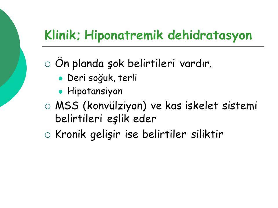 Klinik; Hiponatremik dehidratasyon