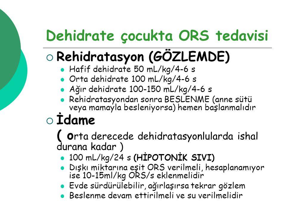 Dehidrate çocukta ORS tedavisi