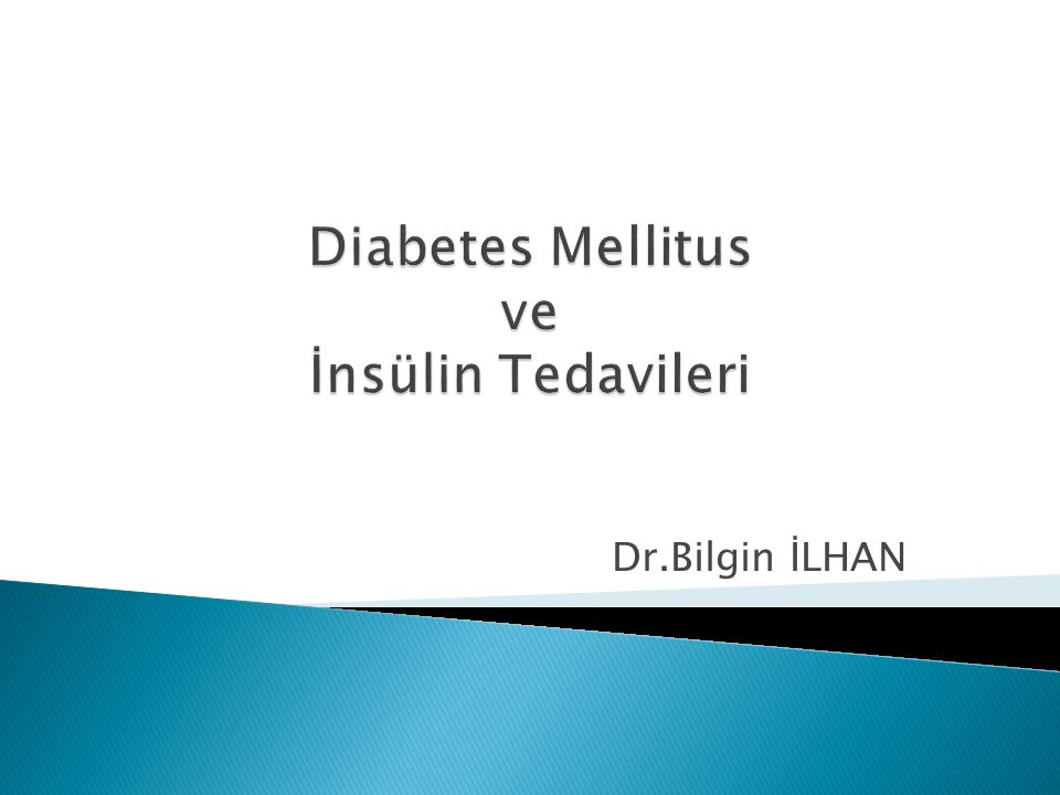 Diabetes Mellitus ve İnsülin Tedavileri