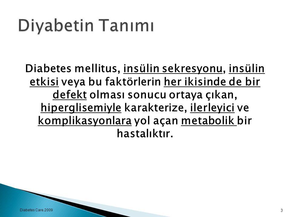 Diyabetin Tanımı