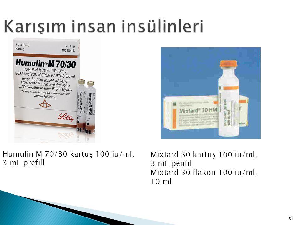 Karışım insan insülinleri