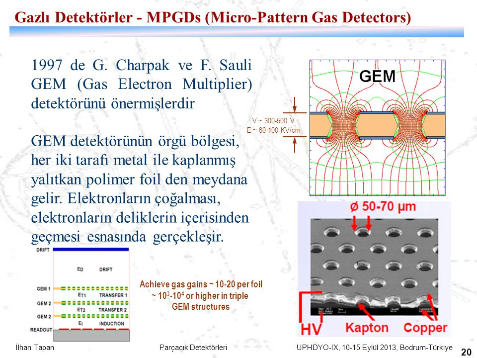 Achieve gas gains ~ 10-20 per foil