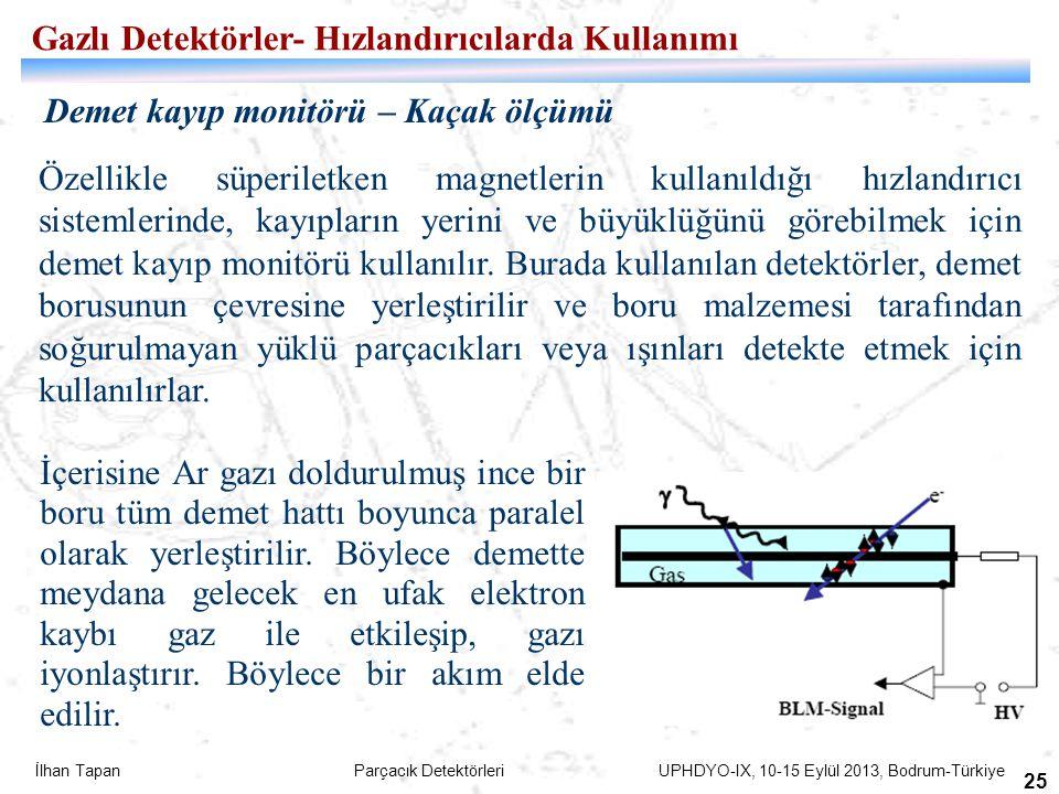 Gazlı Detektörler- Hızlandırıcılarda Kullanımı