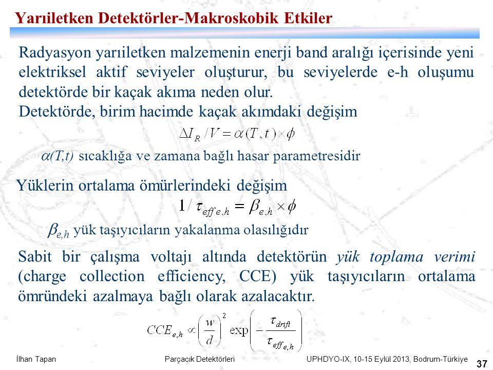 Yarıiletken Detektörler-Makroskobik Etkiler