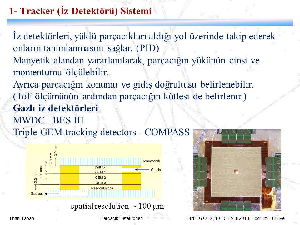 1- Tracker (İz Detektörü) Sistemi
