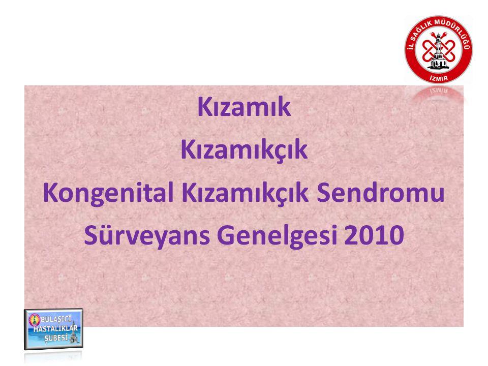 Kızamık Kızamıkçık Kongenital Kızamıkçık Sendromu Sürveyans Genelgesi 2010
