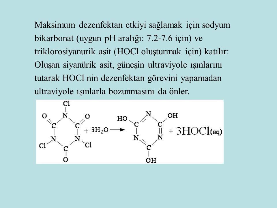 Maksimum dezenfektan etkiyi sağlamak için sodyum