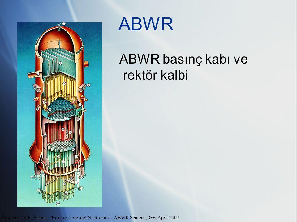 ABWR ABWR basınç kabı ve rektör kalbi