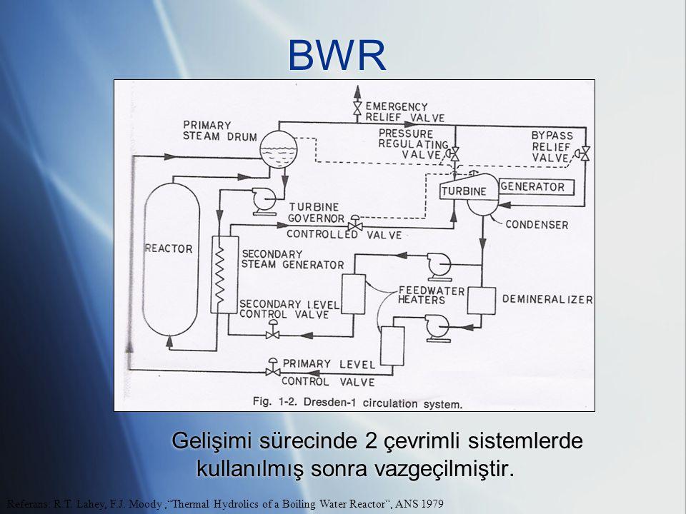 BWR Gelişimi sürecinde 2 çevrimli sistemlerde kullanılmış sonra vazgeçilmiştir.