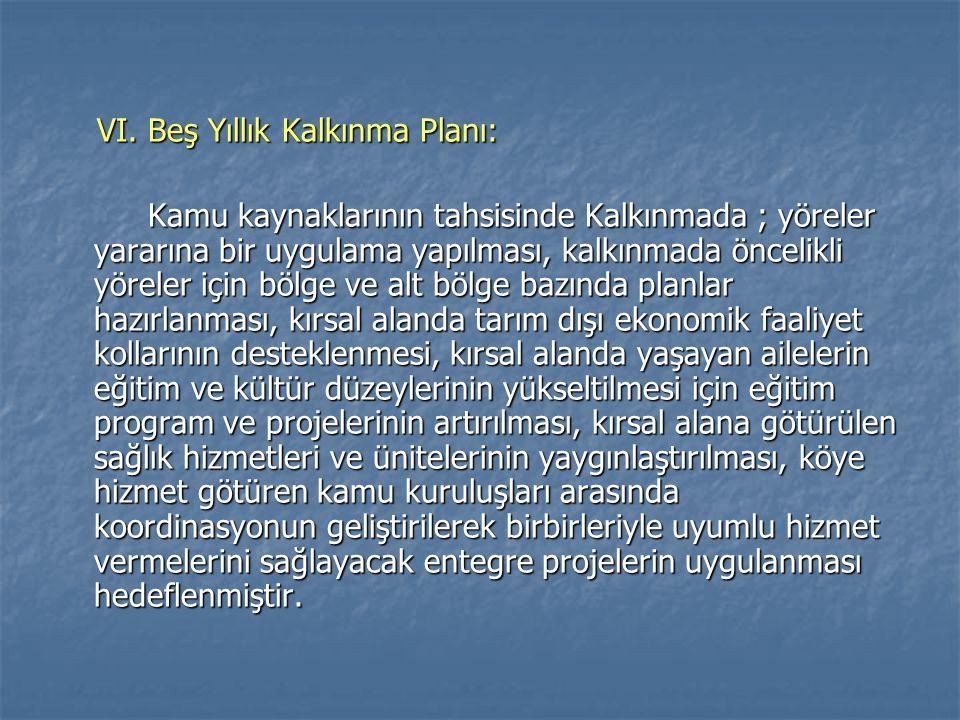VI. Beş Yıllık Kalkınma Planı: