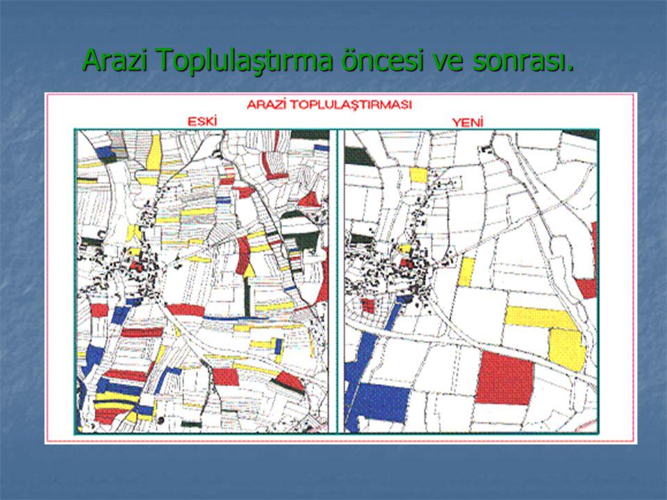 Arazi Toplulaştırma öncesi ve sonrası.