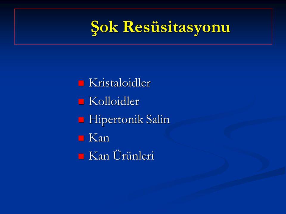 Şok Resüsitasyonu Kristaloidler Kolloidler Hipertonik Salin Kan