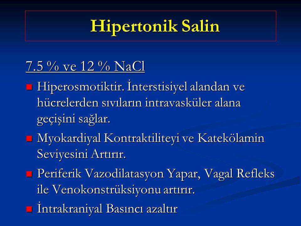 Hipertonik Salin 7.5 % ve 12 % NaCl