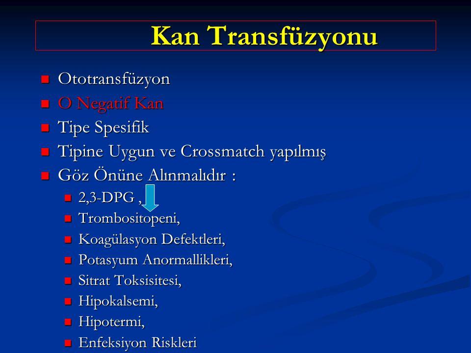 Kan Transfüzyonu Ototransfüzyon O Negatif Kan Tipe Spesifik