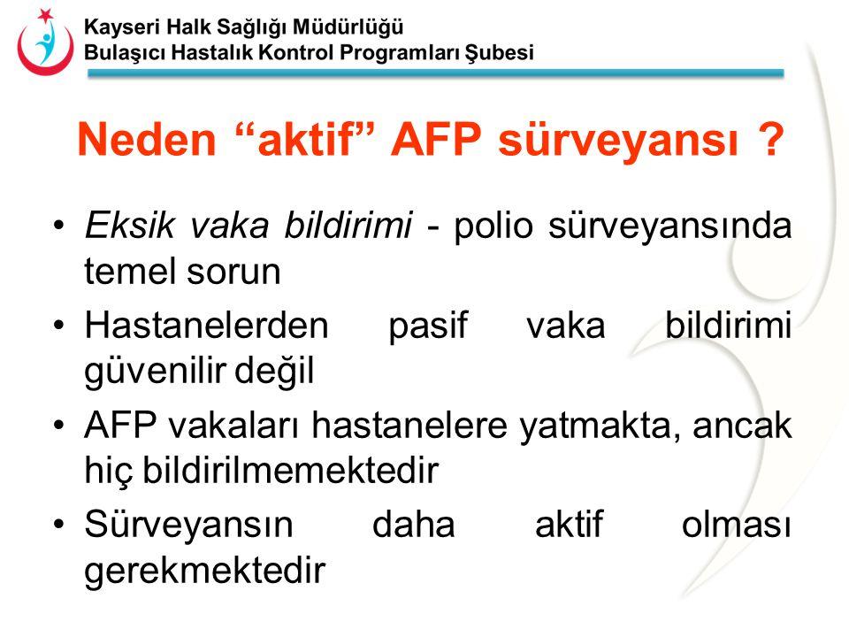 Neden aktif AFP sürveyansı