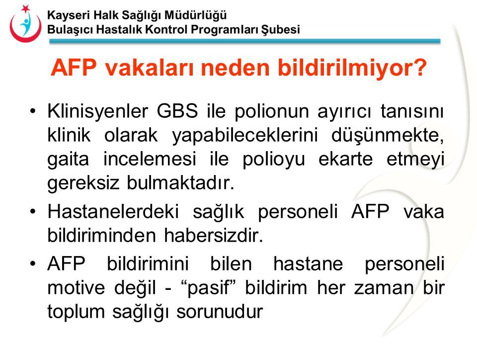 AFP vakaları neden bildirilmiyor