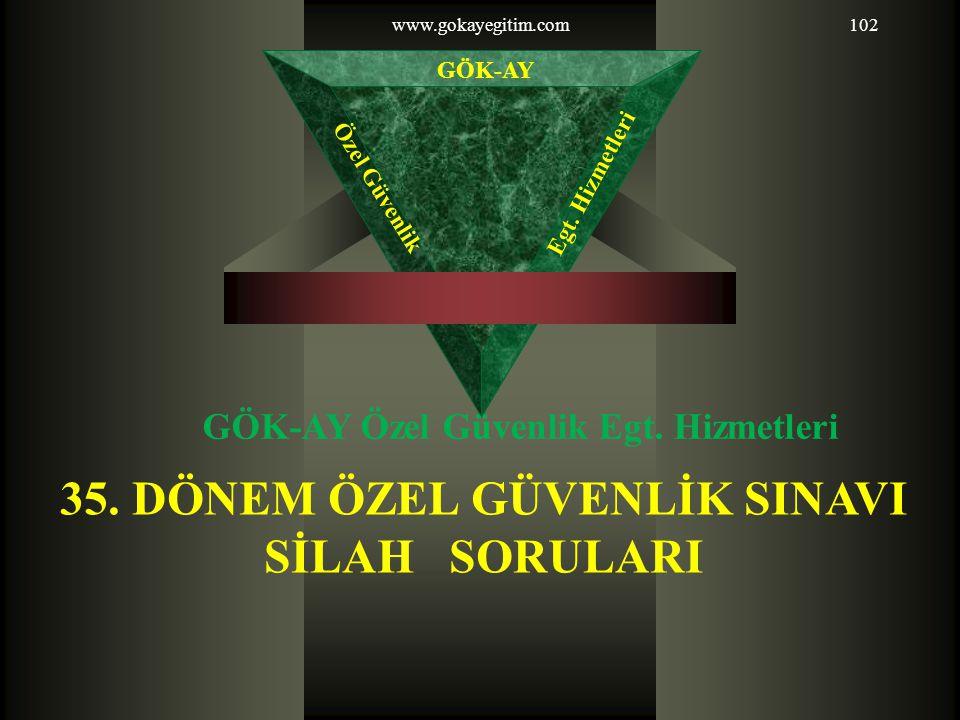 35. DÖNEM ÖZEL GÜVENLİK SINAVI