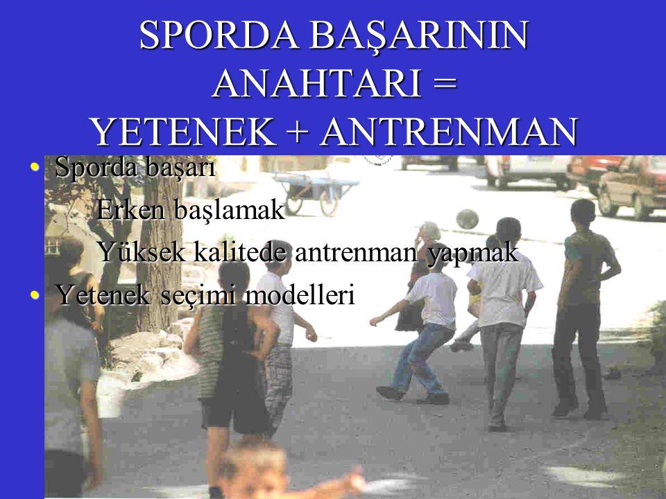 SPORDA BAŞARININ ANAHTARI = YETENEK + ANTRENMAN