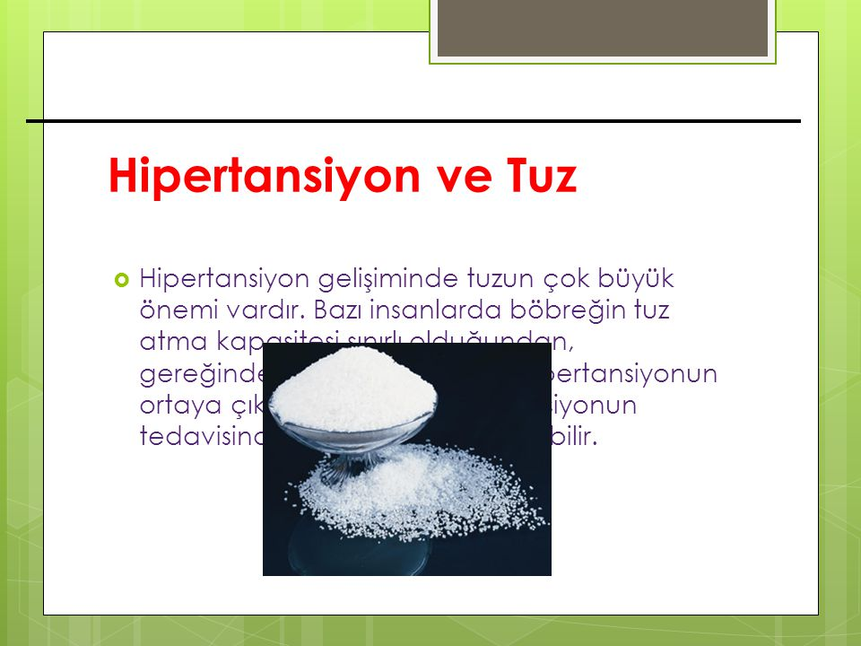 Hipertansiyon ve Tuz