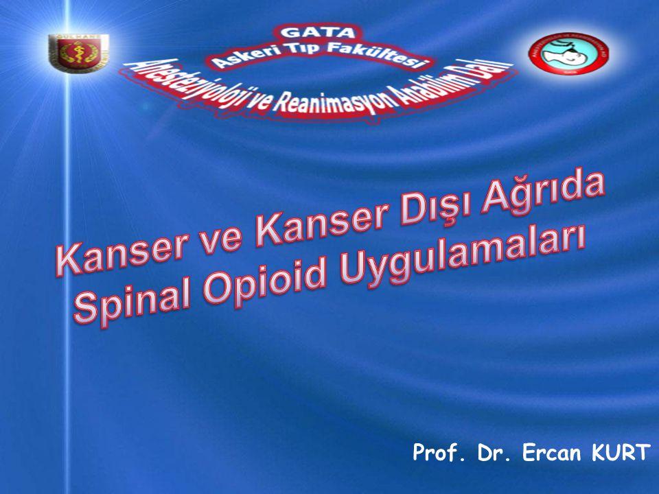 Kanser ve Kanser Dışı Ağrıda Spinal Opioid Uygulamaları