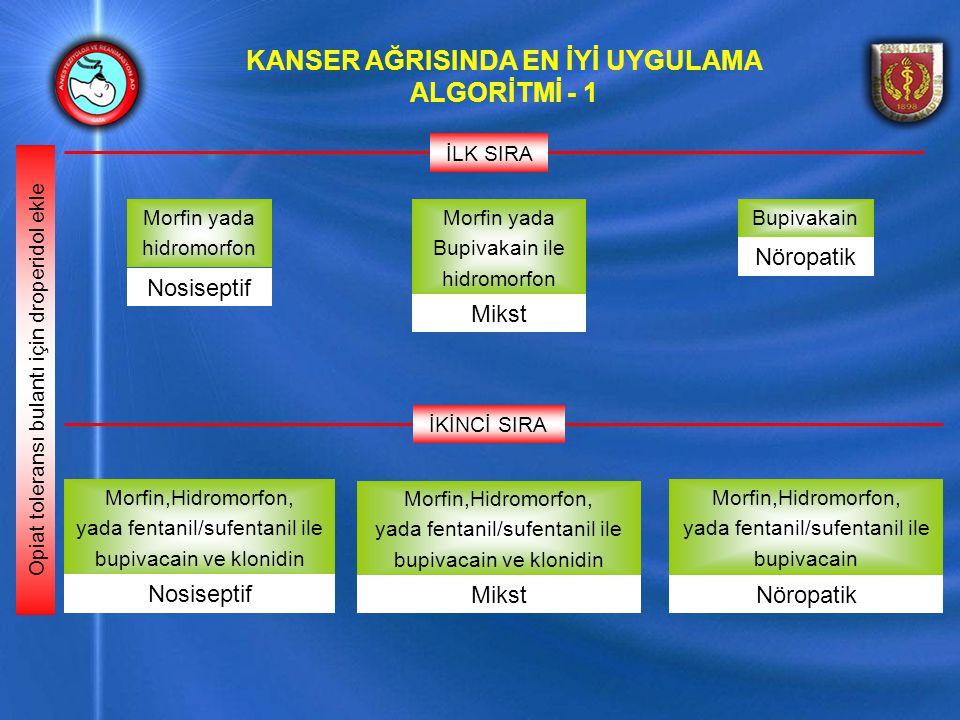 KANSER AĞRISINDA EN İYİ UYGULAMA ALGORİTMİ - 1