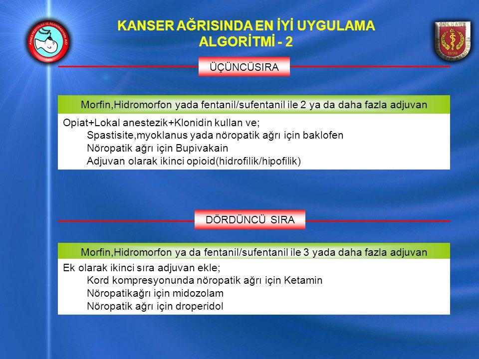 KANSER AĞRISINDA EN İYİ UYGULAMA ALGORİTMİ - 2