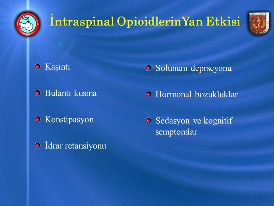 İntraspinal OpioidlerinYan Etkisi