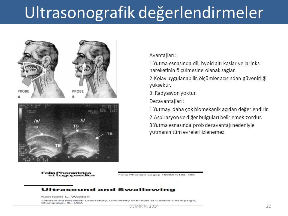 Ultrasonografik değerlendirmeler