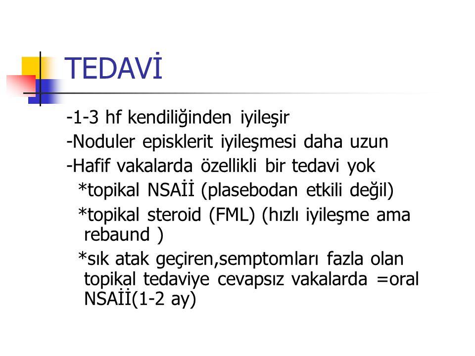 TEDAVİ -1-3 hf kendiliğinden iyileşir