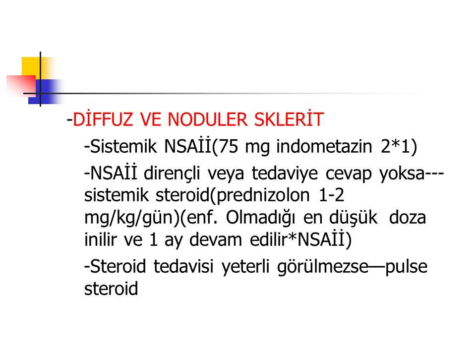 -DİFFUZ VE NODULER SKLERİT