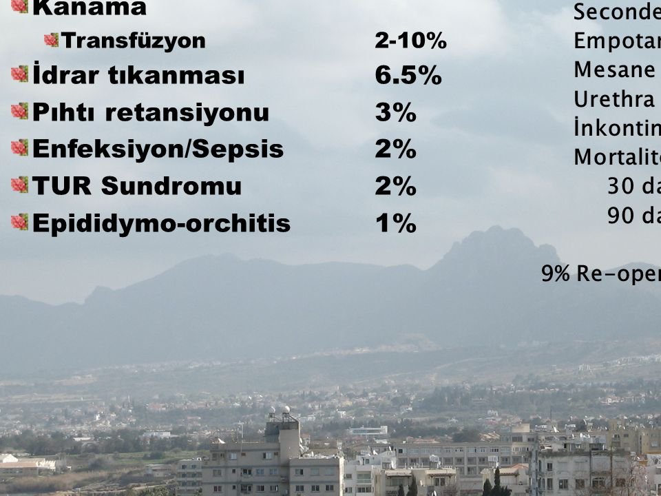 www.enverozdemir.com Erken Komplikasyonlar (7-43%) Kanama