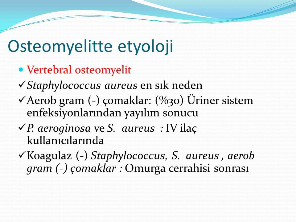 Osteomyelitte etyoloji