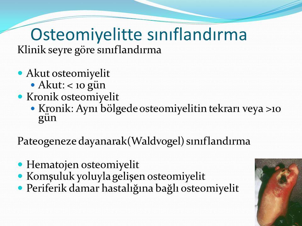 Osteomiyelitte sınıflandırma