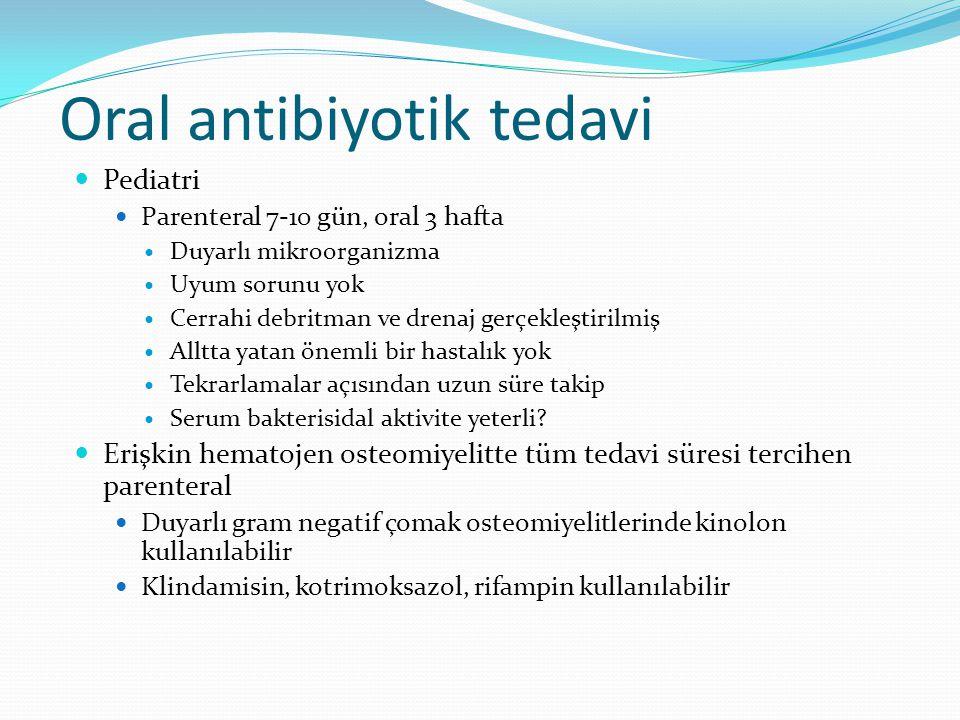 Oral antibiyotik tedavi