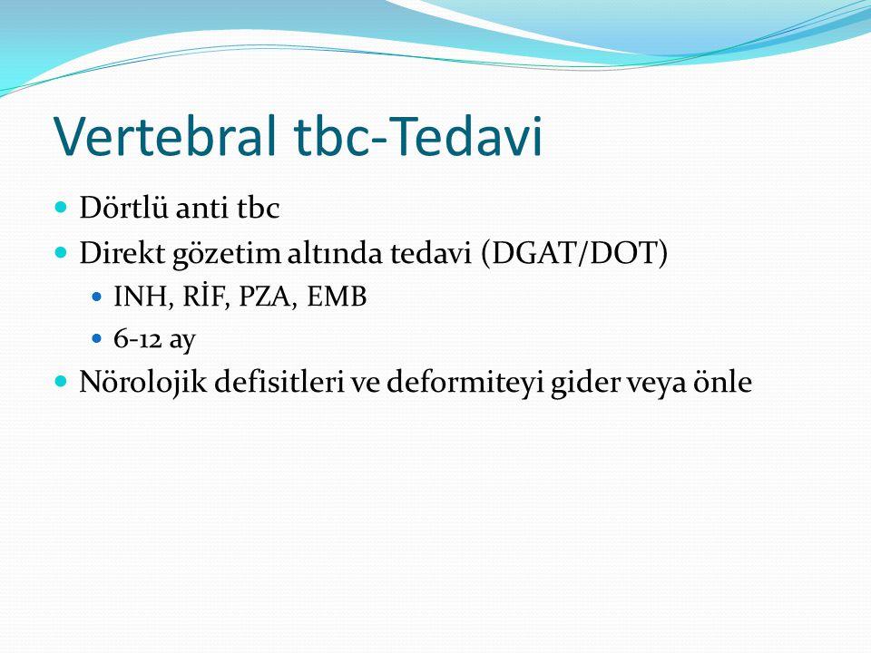Vertebral tbc-Tedavi Dörtlü anti tbc
