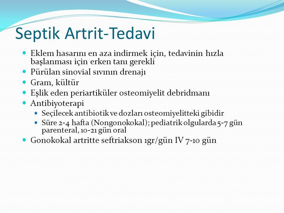 Septik Artrit-Tedavi Eklem hasarını en aza indirmek için, tedavinin hızla başlanması için erken tanı gerekli.