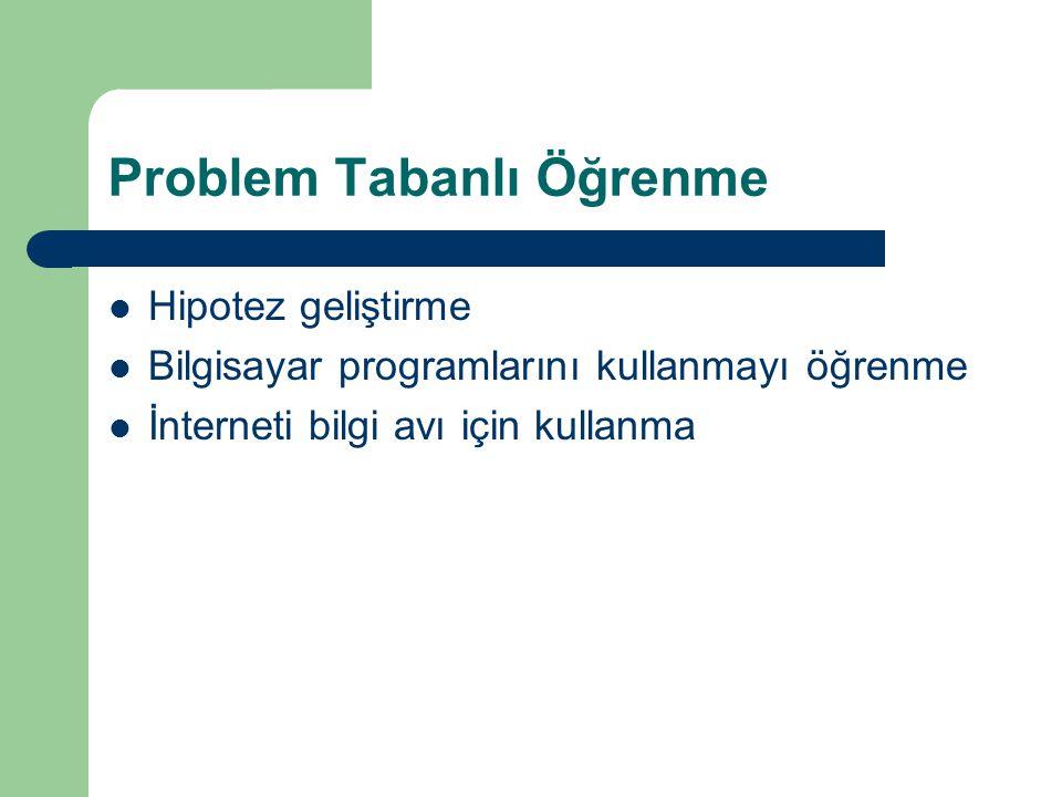 Problem Tabanlı Öğrenme