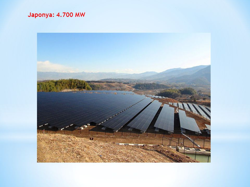 Japonya: 4.700 MW