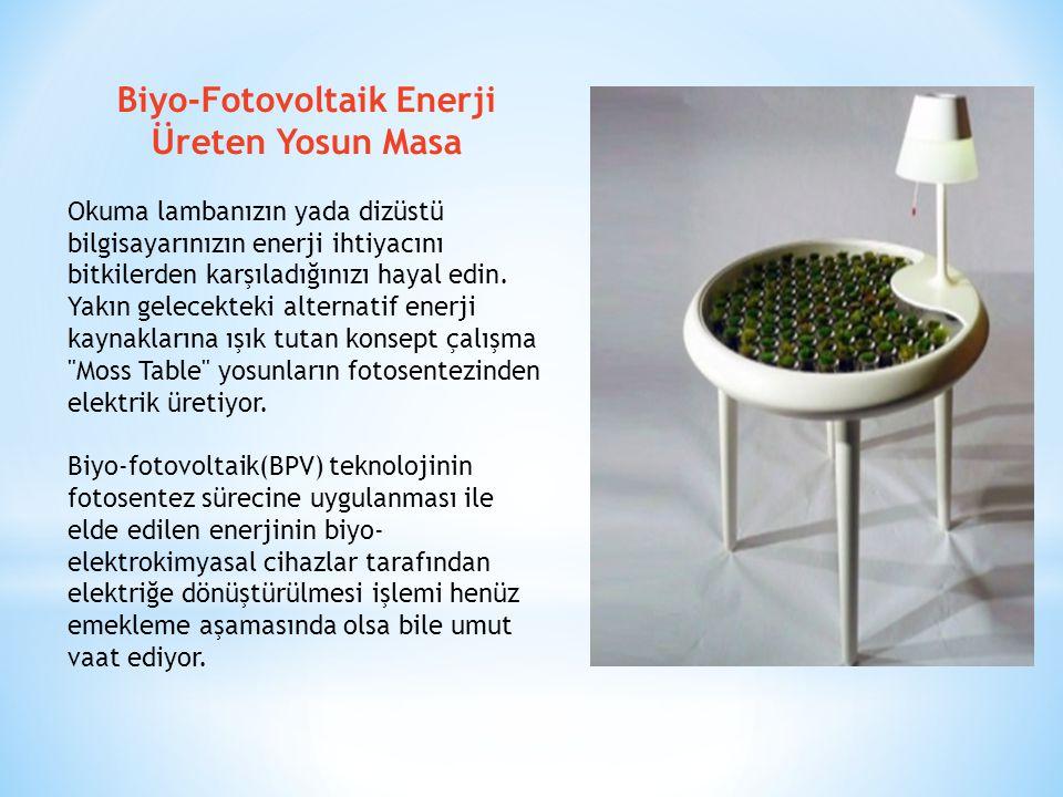 Biyo-Fotovoltaik Enerji Üreten Yosun Masa