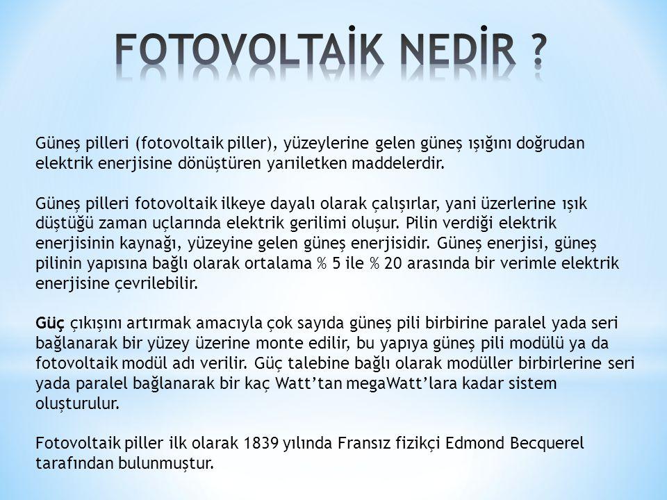 FOTOVOLTAİK NEDİR