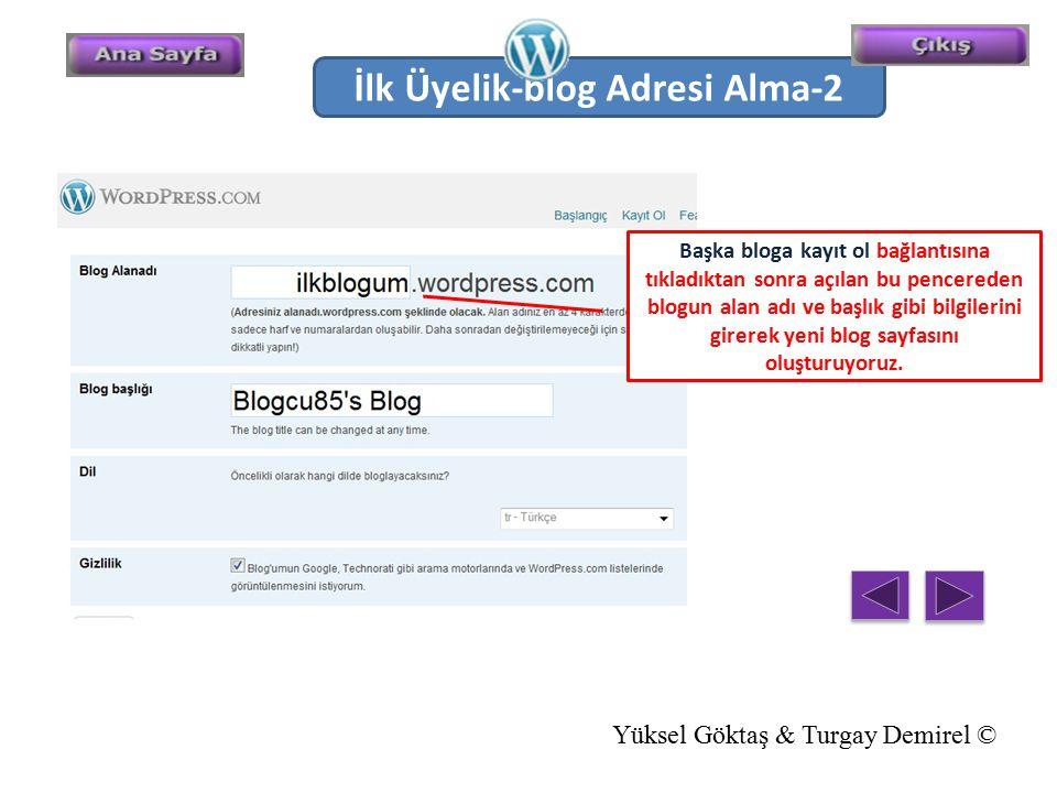 İlk Üyelik-blog Adresi Alma-2