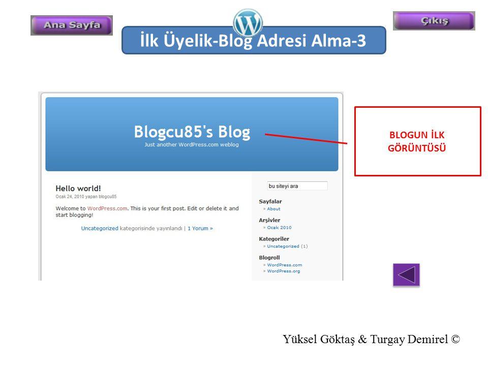İlk Üyelik-Blog Adresi Alma-3
