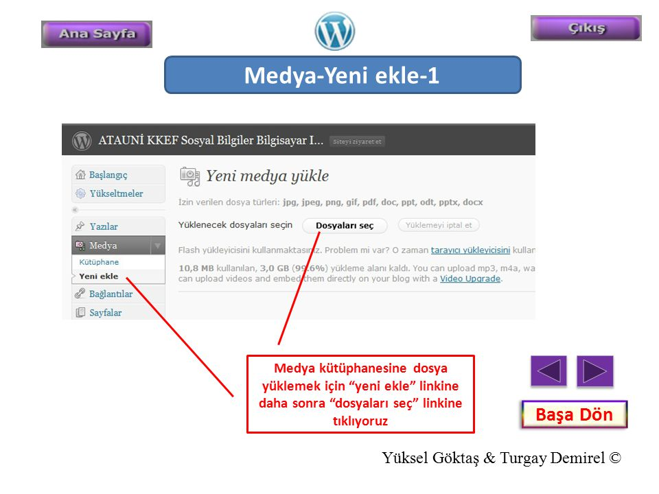 Medya-Yeni ekle-1 Başa Dön Yüksel Göktaş & Turgay Demirel ©