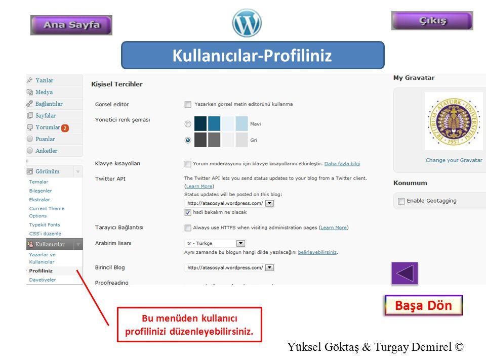 Kullanıcılar-Profiliniz