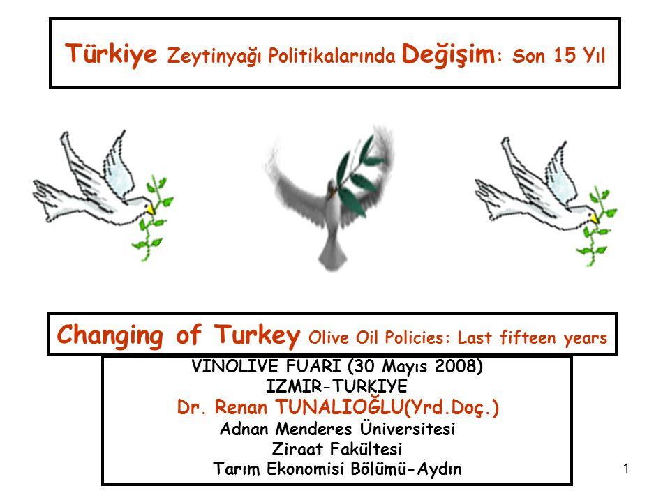 Türkiye Zeytinyağı Politikalarında Değişim: Son 15 Yıl
